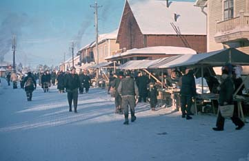 Jokkmokks marknad. Fotograf: Sundius Sven 1945-02-02. Bildrätt: Ájtte museum