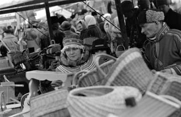 Jokkmokks marknad. Fotograf: Alwin Åke 1959. Bildrätt: Ájtte museum