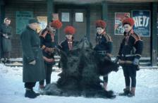Jokkmokks marknad. Fotograf: Sundius Sven 1945-02-05. Bildrätt: Ájtte museum